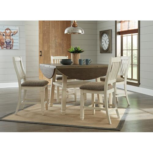 Bolanburg Table & 6 Barstools Antique White