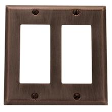 Venetian Bronze Beveled Edge Double GFCI