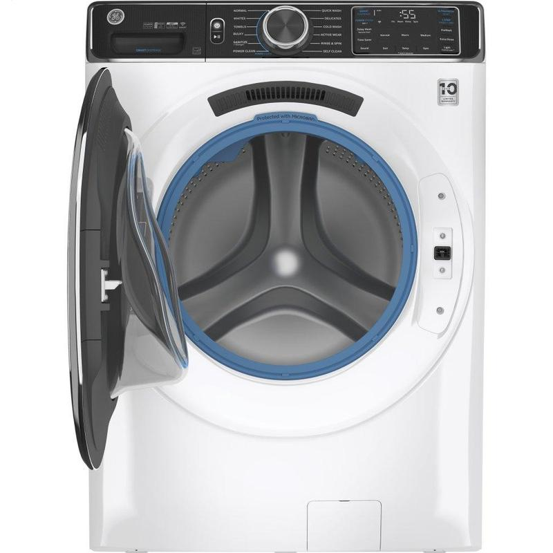 GE® 5.0 cu. ft. Capacity Smart Front Load ENERGY STAR® Steam Washer with SmartDispense™ UltraFresh Vent System with OdorBlock™ and Sanitize + Allergen