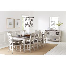 Orchard Park Table & 4 Chairs Grey
