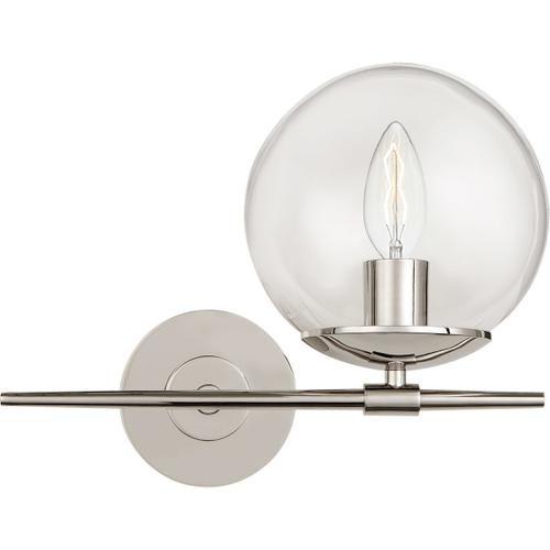 Visual Comfort - AERIN Turenne 1 Light 13 inch Polished Nickel Sconce Wall Light, Small