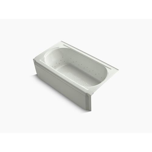 """Dune 60"""" X 34"""" Alcove Bubblemassage Air Bath With Vibrant Brushed Nickel Airjet Color Finish and Right-hand Drain"""
