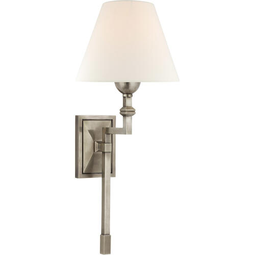 - Alexa Hampton Jane 1 Light 8 inch Antique Nickel Single Tail Sconce Wall Light, Medium