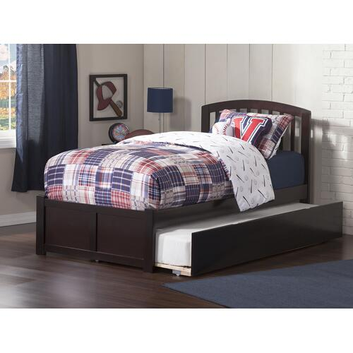 Richmond Twin Flat Panel Foot Board with Urban Trundle Espresso