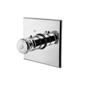 "Satin Nickel - PVD 3/4"" Square Thermostatic Trim Plate with Handle"