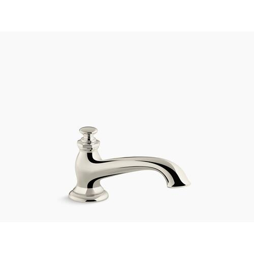 Vibrant Polished Nickel Deck-mount Bath Spout With Flare Design