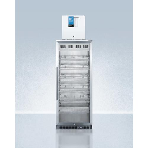 Summit - Compact Manual Defrost Fs24lpro All-freezer Stacked With 11 CU.FT. Pharmaceutical Refrigerator Acr1151pro, Both With Factory-installed Probe Holes
