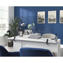 """See Details - Transparent 48"""" Plastic Shield Desk Attachment"""