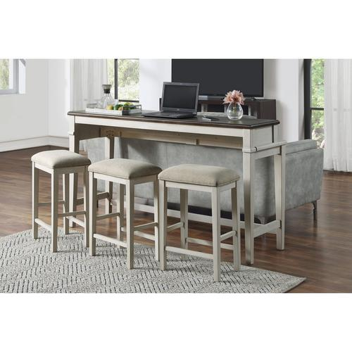 4-Piece Pack Console Counter Height Set