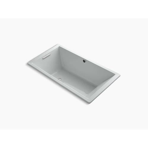 """Ice Grey 66"""" X 36"""" Heated Bubblemassage Air Bath With Bask , Reversible Drain"""