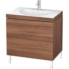 Furniture Washbasin C-bonded With Vanity Floorstanding, Natural Walnut (decor)