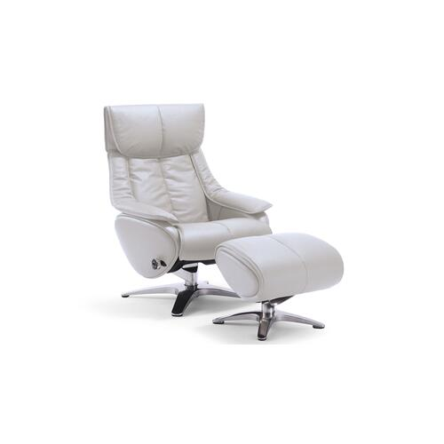 White Chair with Ottoman