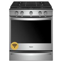 5.8 cu. ft. Smart front control Gas Range with EZ-2-Lift Hinged Cast-Iron Grates