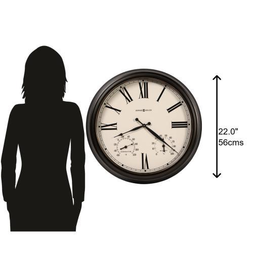 Howard Miller Aspen Outdoor Oversized Wall Clock 625677
