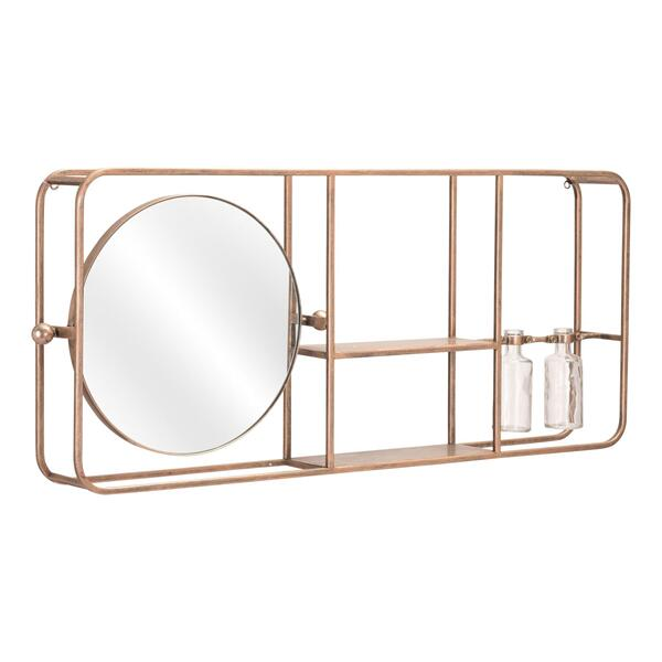 See Details - Thornhill Mirror Shelf Gold