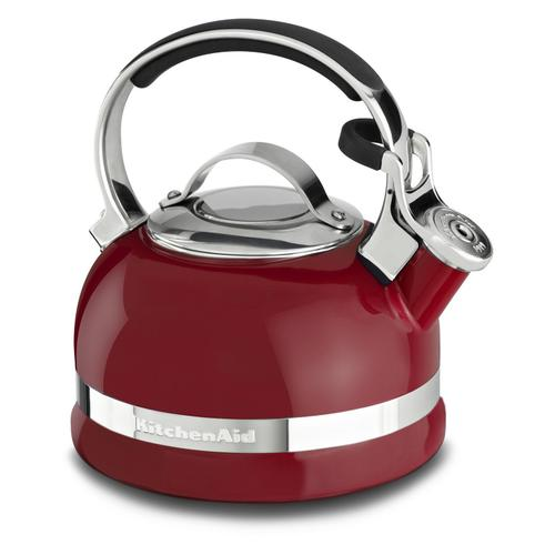2.0-Quart Stove Top Kettle with Full Stainless Steel Handle Empire Red