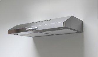 "24"" under cabinet hood stainless steel"