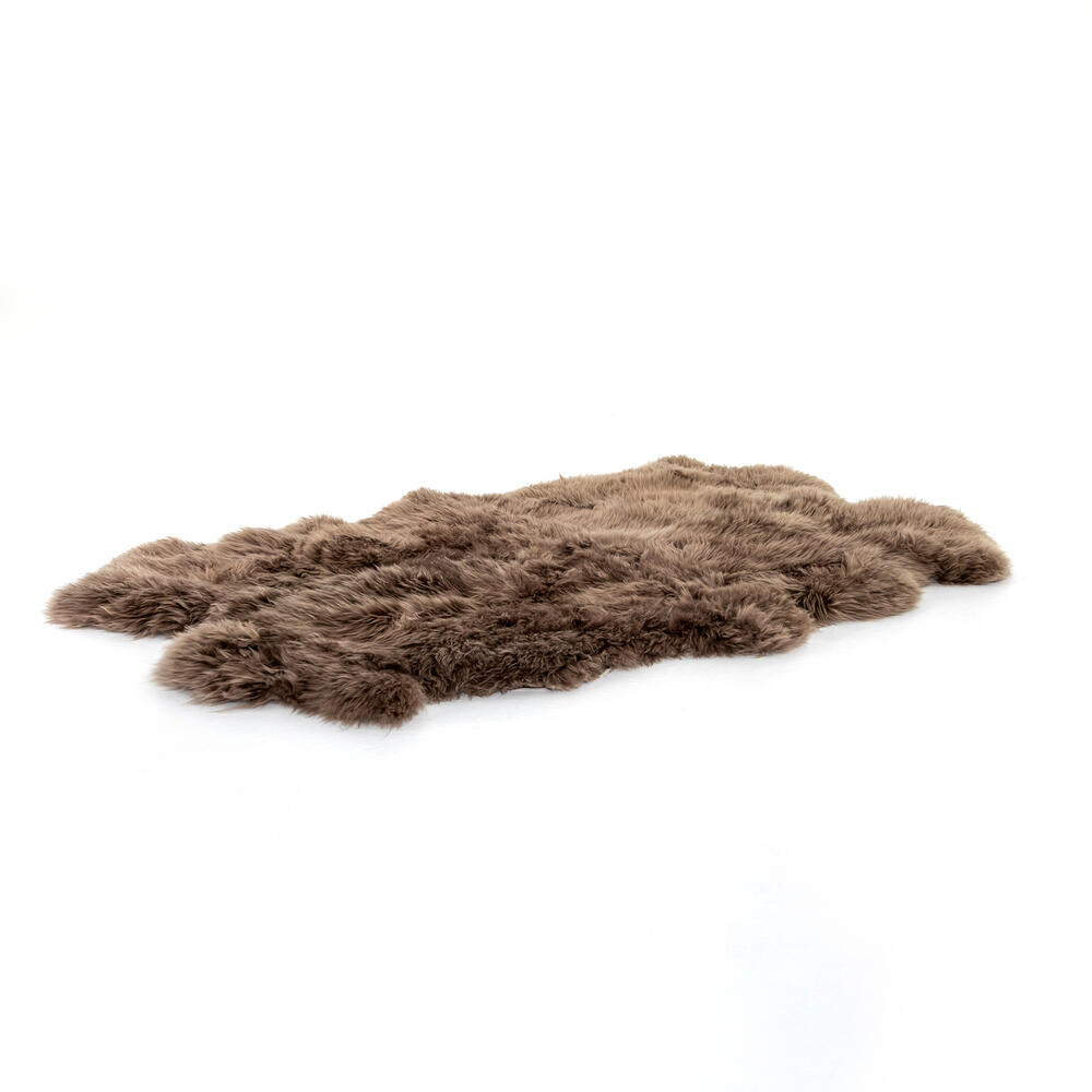 Taupe Cover Lalo Lambskin Rug
