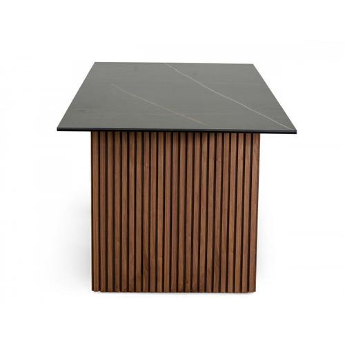 VIG Furniture - Modrest Maggie - Modern Walnut and Black Ceramic Top Dining Table