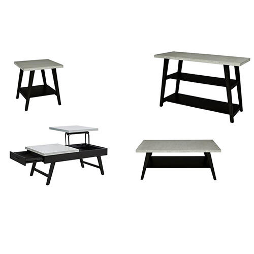 Progressive Furniture - Rectangular Cocktail Table - Concrete Gray/Black Finish