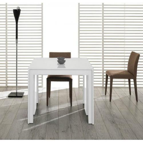 VIG Furniture - Modrest Morph - Modern Ultra-Compact Extendable White Dining Table