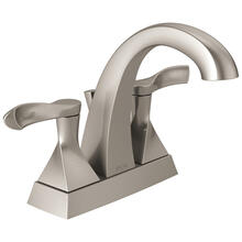 Spotshield Brushed Nickel Two Handle Centerset Bathroom Faucet