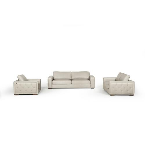 VIG Furniture - Estro Salotti Iseo Modern Grey Leather Sofa Set