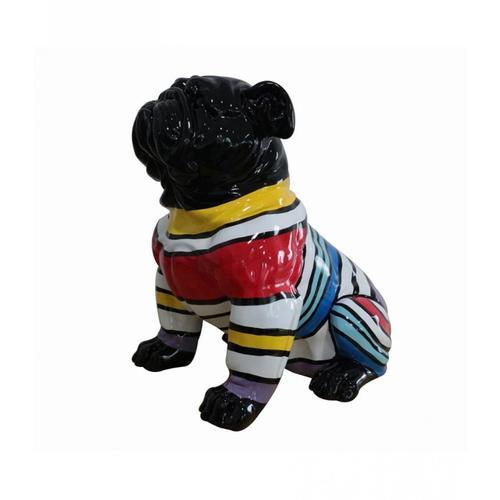 Gallery - Modrest Modern Black & Colorful Sweater Pug Sculpture