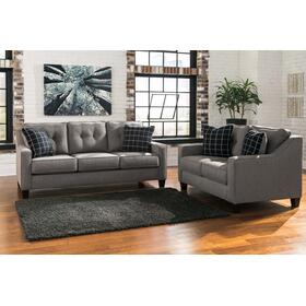 Brindon Sofa & Loveseat Charcoal