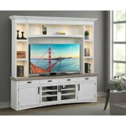 AMERICANA MODERN - COTTON 92 in. TV Console with Hutch, Backpanel and LED Lights Product Image
