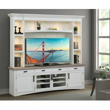 Product Image - AMERICANA MODERN - COTTON 92 in. TV Console with Hutch, Backpanel and LED Lights