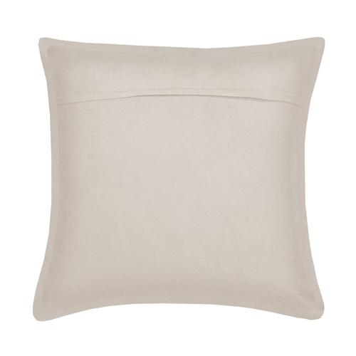 Suede Cushion - Taupe / 100% Duck Feather