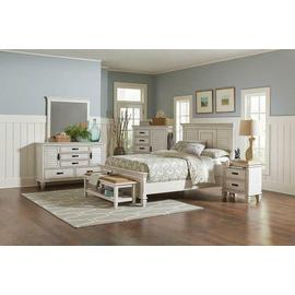 See Details - Coastal Antique White Queen Bed
