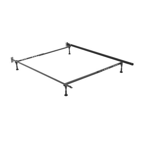 Sentry Adjustable Bed Frame 7960G with Headboard Brackets and (4) 2-Inch Glide Legs, Twin - Queen