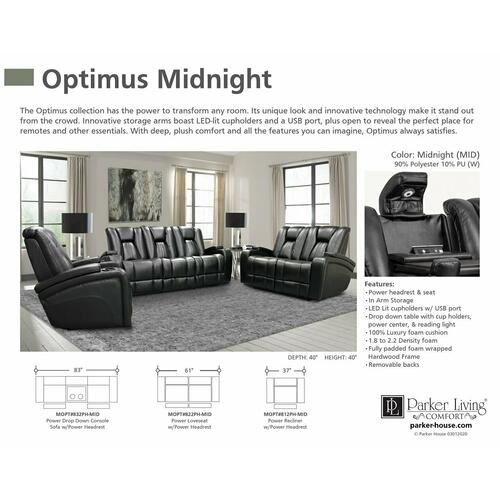 OPTIMUS - MIDNIGHT Power Reclining Collection