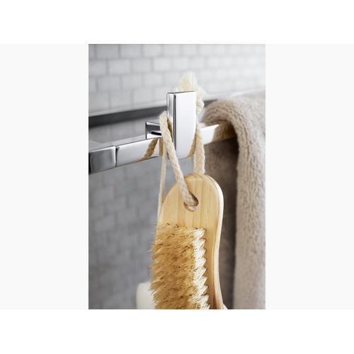 Vibrant Brushed Nickel Frame Robe Hook