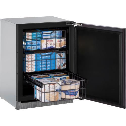 """U-Line - 24"""" 3000 Series Integrated Freezer, Right Hand Door"""