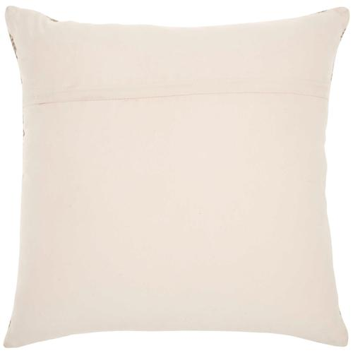"""Natural Leather Hide S2131 White/silver 20"""" X 20"""" Throw Pillow"""