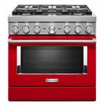 KitchenaidKitchenAid(R) 36'' Smart Commercial-Style Dual Fuel Range with 6 Burners - Passion Red