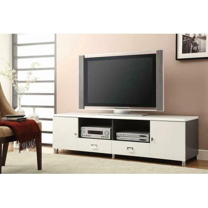 Contemporary White TV Console