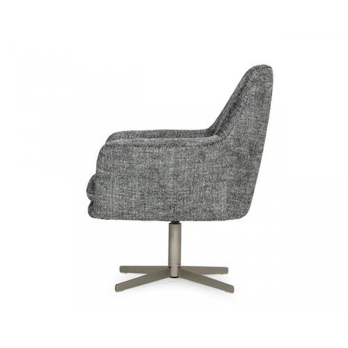 VIG Furniture - Divani Casa Elvin - Modern Dark Grey Fabric Swivel Lounge Chair