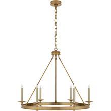 View Product - E. F. Chapman Launceton 6 Light 36 inch Antique-Burnished Brass Chandelier Ceiling Light