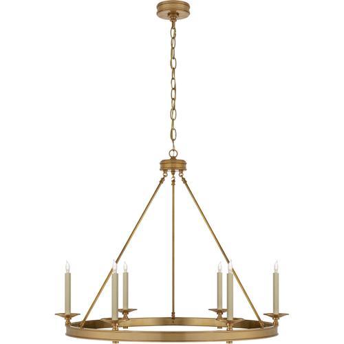 Visual Comfort - E. F. Chapman Launceton 6 Light 36 inch Antique-Burnished Brass Chandelier Ceiling Light