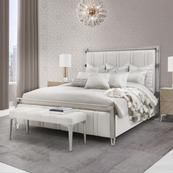 Cal King Channel-tufted Panel Bed (3 Pc)