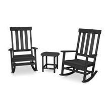 View Product - Prescott 3-Piece Porch Rocking Chair Set in Black