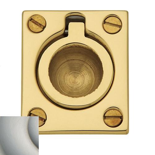 Baldwin - Satin Nickel with Lifetime Finish Flush Ring Pull
