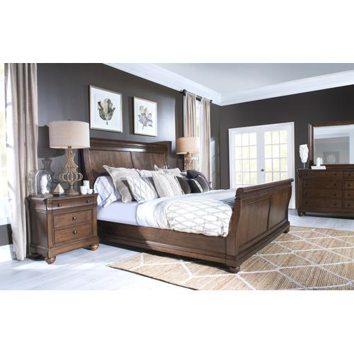 Coventry Complete Sleigh Bed, CA King 6/0