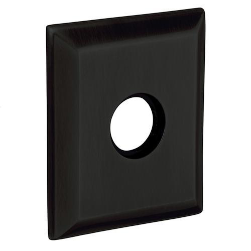 Baldwin - Satin Black R033 Square Rose