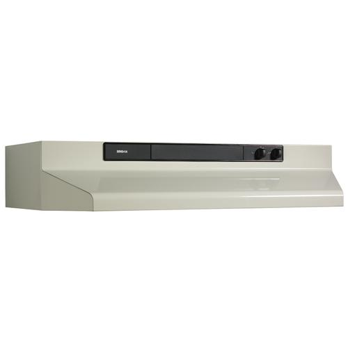 Broan® 30-Inch Convertible Under-Cabinet Range Hood, 220 CFM, Bisque
