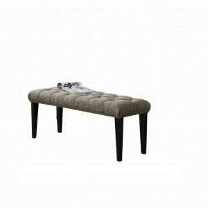 ACME Faye Bench - 20903 - 2-Tone Chocolate Linen & Espresso